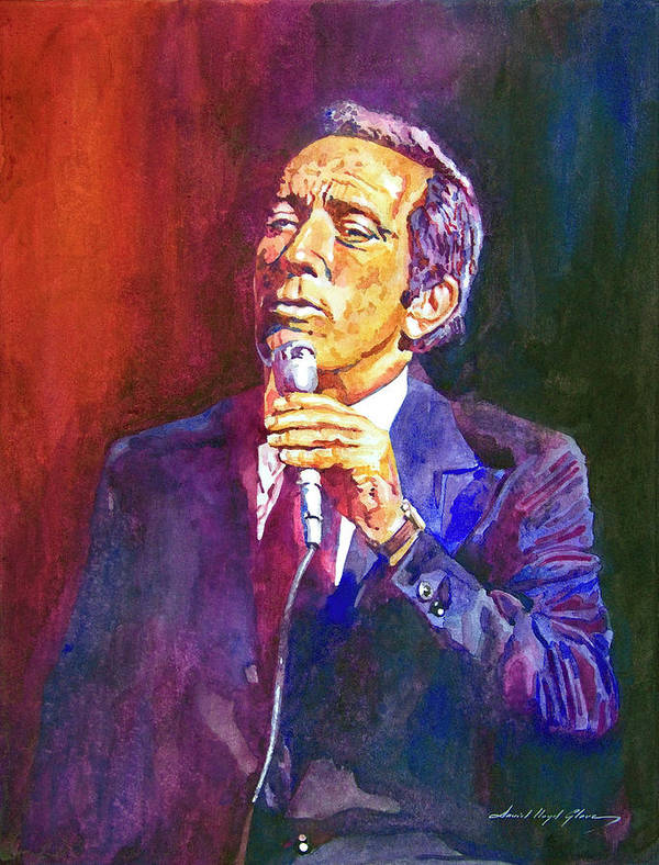 Andy Williams Poster featuring the painting This Song Is For You - Andy Williams by David Lloyd Glover