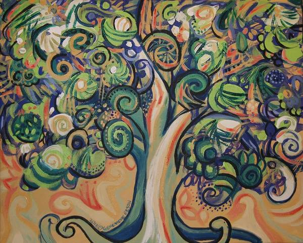 Tree Poster featuring the painting Tree Candy by Genevieve Esson