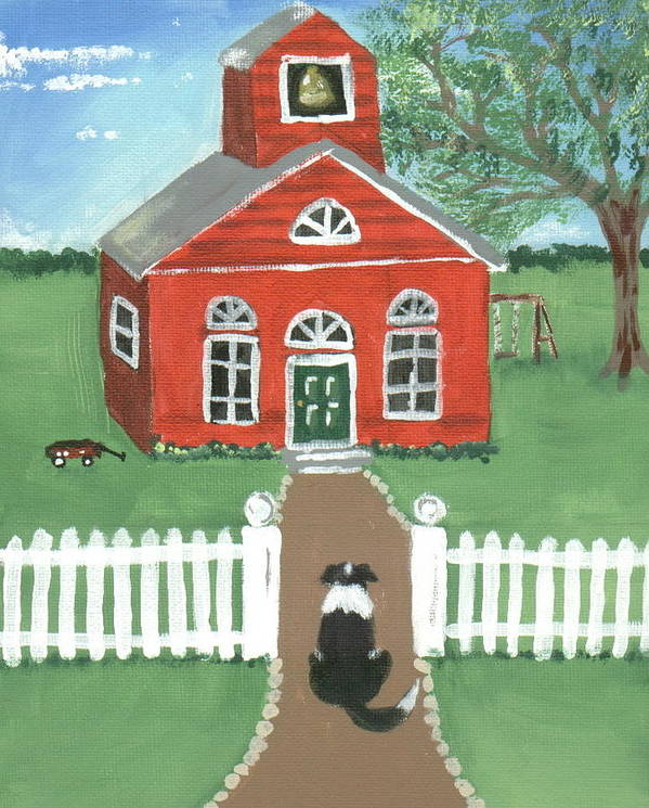 Border Collie Poster featuring the painting Waiting On The Bell by Sue Ann Thornton