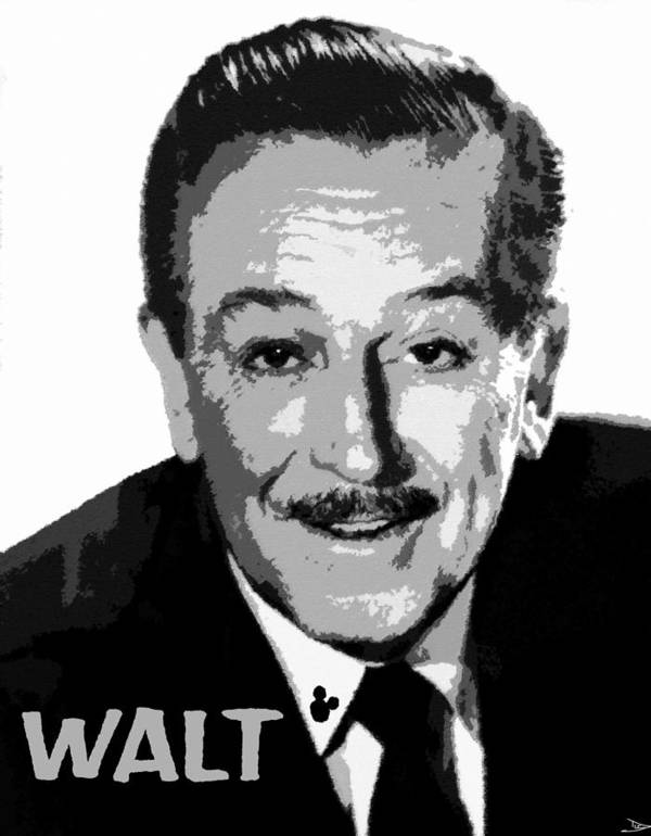 Art Poster featuring the painting Walt by David Lee Thompson