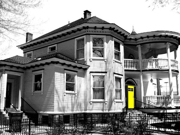 House Poster featuring the digital art Yellow Door by Will Borden