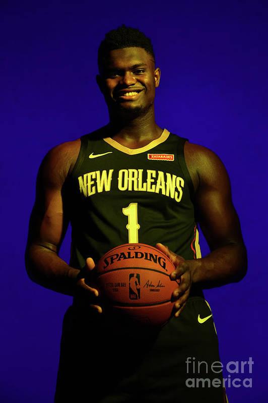 Nba Pro Basketball Art Print featuring the photograph 2019 Nba Rookie Photo Shoot by Jesse D. Garrabrant
