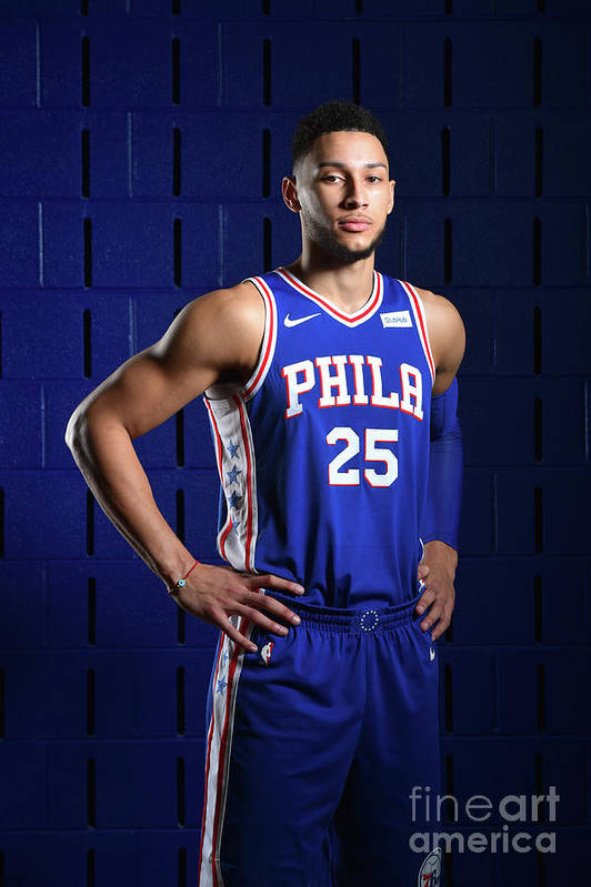 Media Day Art Print featuring the photograph Ben Simmons by Jesse D. Garrabrant