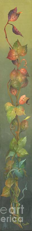 Doreta Boyd Art Print featuring the painting Harvest Grapevine by Doreta Boyd