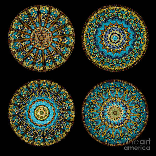Fantasy Art Print featuring the photograph Kaleidoscope Steampunk Series Montage by Amy Cicconi