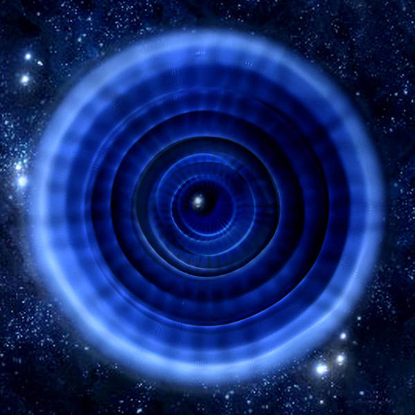 Cymatic Cymatics Time Tunnel Sound Image Cymascope Cyma Mmv Vibrational Frequency Art Print featuring the photograph Einstein-rosen Bridge by CymaScope