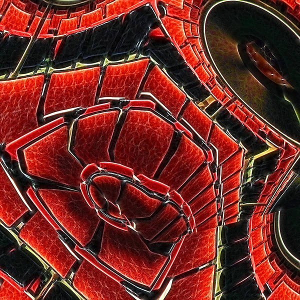 Red Art Print featuring the digital art Seating Arrangement by Wendy J St Christopher