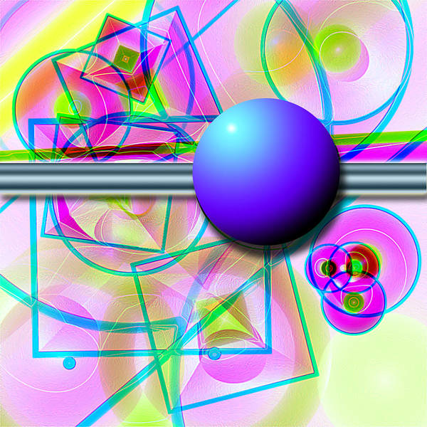 Abstract Art Print featuring the digital art 80's Whatever by Carl Perry