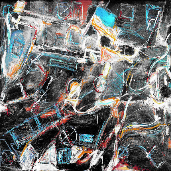 Abstraction Art Print featuring the painting Badlands 2 by Dominic Piperata