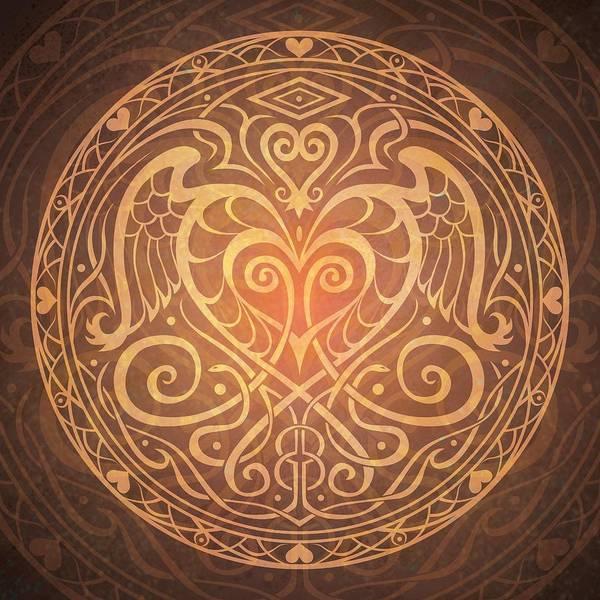 Mandala Art Print featuring the digital art Heart Of Wisdom Mandala by Cristina McAllister