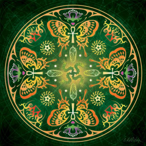 Butterfly Art Print featuring the digital art Metamorphosis Mandala by Cristina McAllister