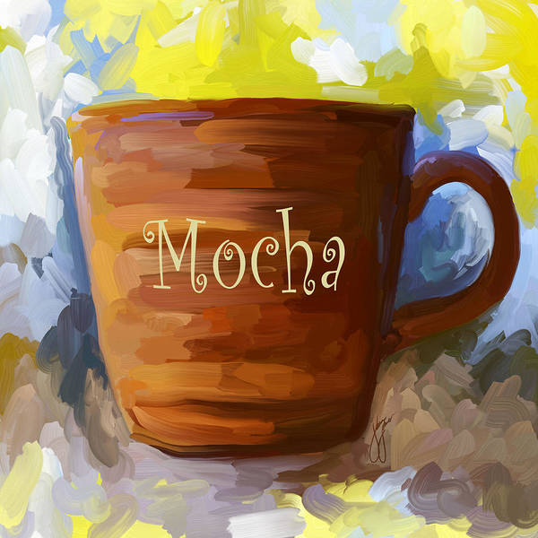 Coffee Print featuring the painting Mocha Coffee Cup by Jai Johnson