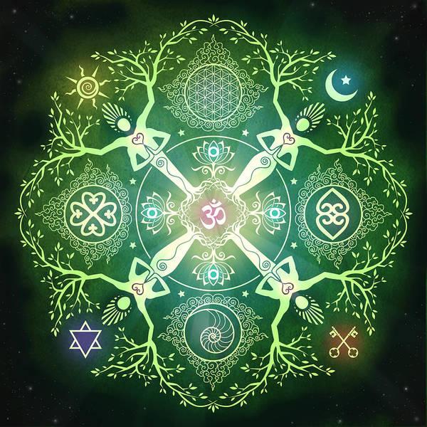 Mandala Art Print featuring the digital art Numinosity Mandala by Cristina McAllister