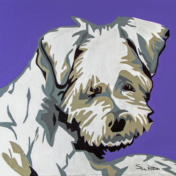 Terrier Art Print featuring the painting Terrier Mix by Slade Roberts