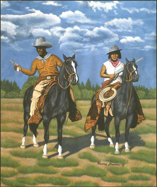 People Art Print featuring the painting Hunting by Henry Frison