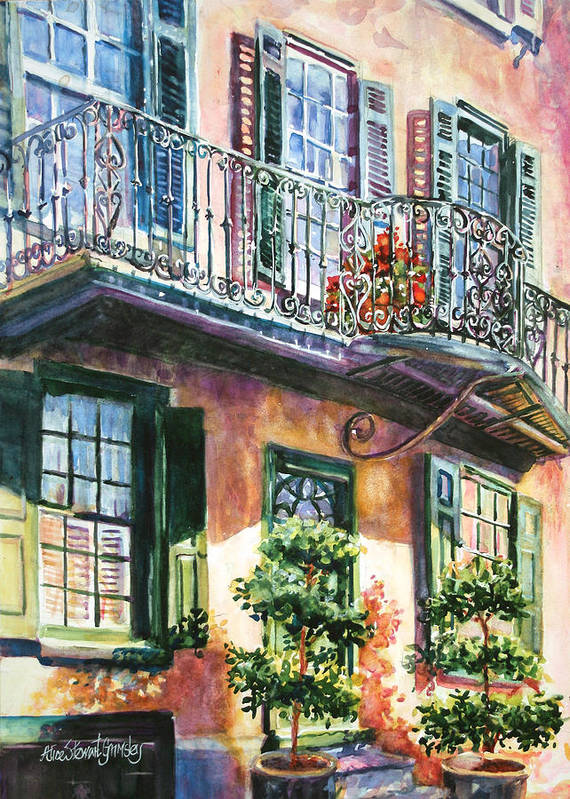 Wrought Iron Rhapsody Art Print By Alice Grimsley