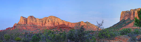 Red Rocks. Sedona Landscape Art Print featuring the photograph Sedona Panoramic - Highway 179 by Bob Coates