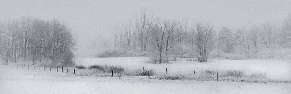 Michele Art Print featuring the photograph Snowy Fields by Michele Steffey