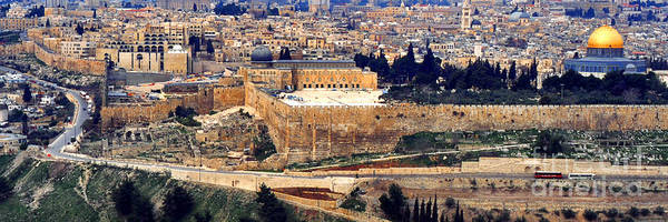 Israel Art Print featuring the photograph Jerusalem From Mount Olive by Thomas R Fletcher