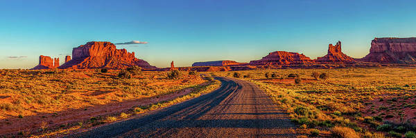Monument Valley Art Print featuring the photograph A Road Less Travelled by Az Jackson