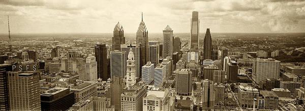 Philadelphia Art Print featuring the photograph Aerial View Philadelphia Skyline Wth City Hall by Jack Paolini