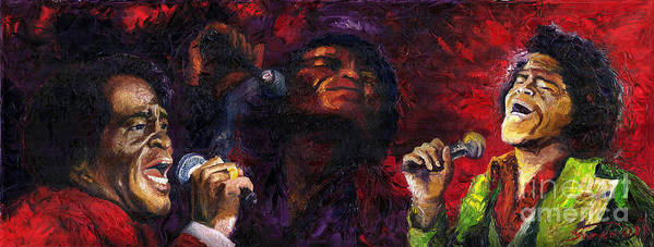 Jazz Art Print featuring the painting Jazz James Brown by Yuriy Shevchuk