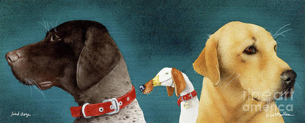 Will Bullas Art Print featuring the painting Bird Dogs... by Will Bullas