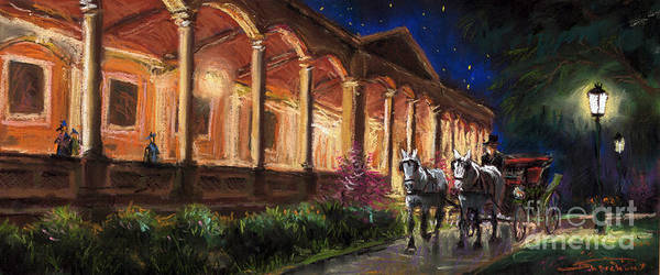 Pastel Art Print featuring the painting Germany Baden-baden 13 by Yuriy Shevchuk