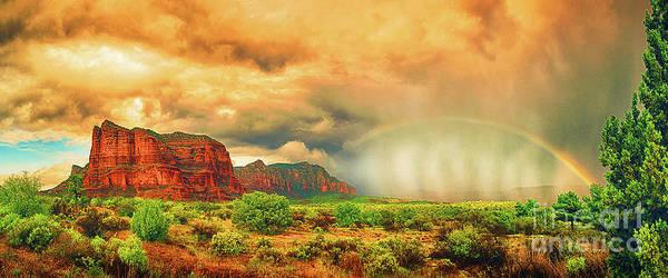Sedona Art Print featuring the photograph Sedona Storm, Sedona, Arizona by Don Schimmel