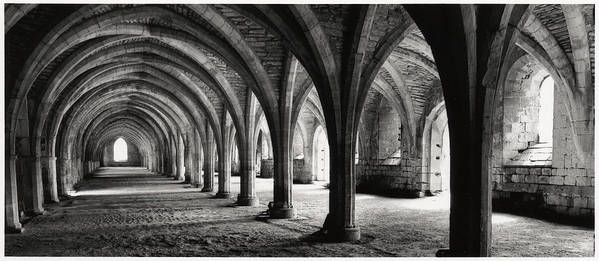 Fountains Abbey Art Print featuring the photograph Stone Arches by Michael Hudson
