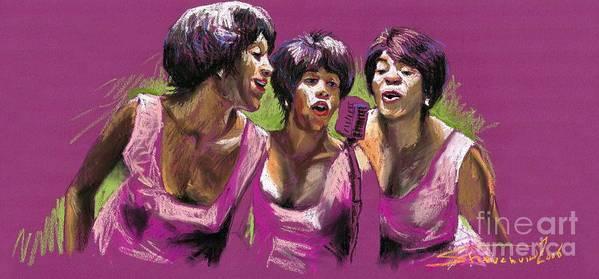 Jazz Art Print featuring the painting Jazz Trio by Yuriy Shevchuk