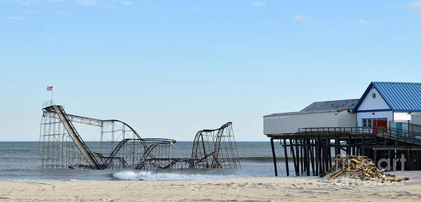 Pano Art Print featuring the photograph Seaside Heights Jetstar by Sami Martin