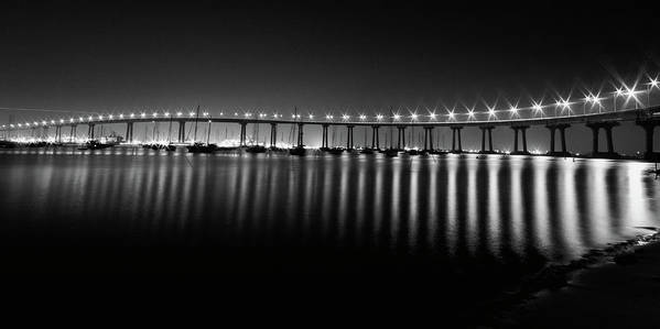 San Diego Print featuring the photograph Coronado Bay Bridge by Ryan Weddle