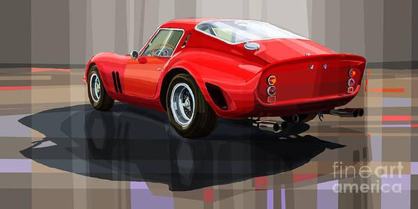 Automotive.digital Art Print featuring the digital art Ferrari 250 Gto by Yuriy Shevchuk