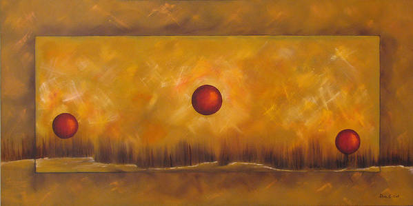 Abstract Art Print featuring the painting The Cycle by Dina Soker