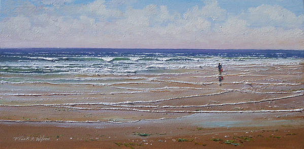 Seascape Art Print featuring the painting The Shell Collector by Frank Wilson
