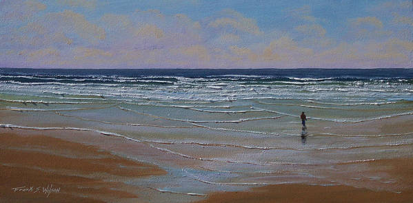 Seascape Art Print featuring the painting The Surf Walker by Frank Wilson