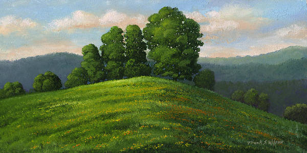 Landscape Art Print featuring the painting Toboggan Hill by Frank Wilson