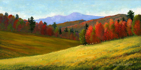 Landscape Art Print featuring the painting Early October by Frank Wilson