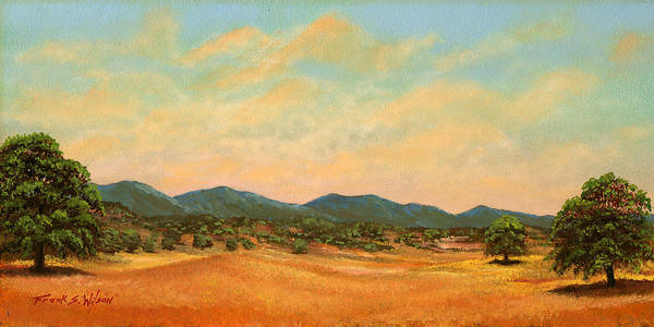 Landscape Art Print featuring the painting Foothills by Frank Wilson
