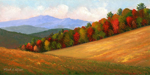Landscape Art Print featuring the painting Mid Autumn by Frank Wilson