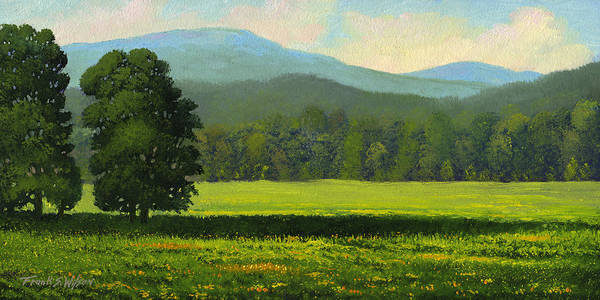 Landscape Art Print featuring the painting Spring Flowers by Frank Wilson