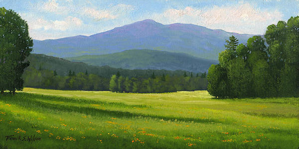 Landscape Art Print featuring the painting Spring Vista by Frank Wilson