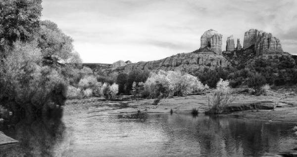 Cathedral Rock Art Print featuring the photograph Red Rock Crossing At Cathedral Rock by Bob Coates