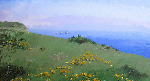 Landscape Art Print featuring the painting Big Sur by Hunter Jay