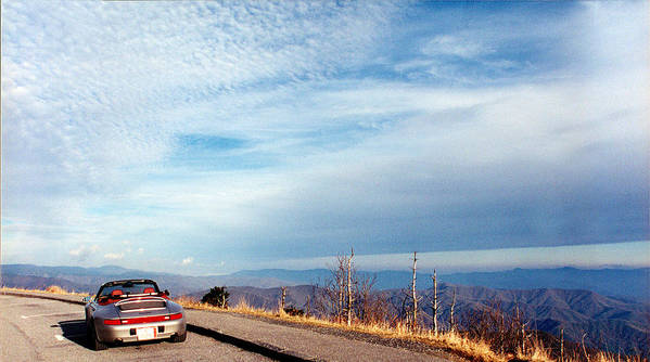 Porsche Art Print featuring the photograph 20 Degrees And Loving It At Cumberland Gap by WEB Shooter