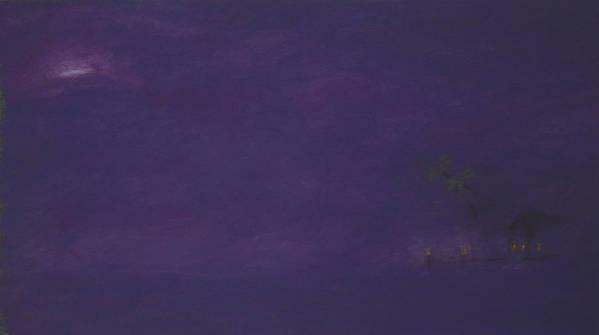 Purple Art Print featuring the pastel Moonrise by Amanda Clark