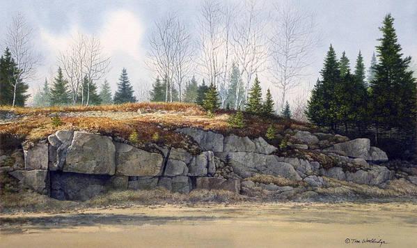 Landscape Art Print featuring the painting Jonesboro Cut by Tom Wooldridge