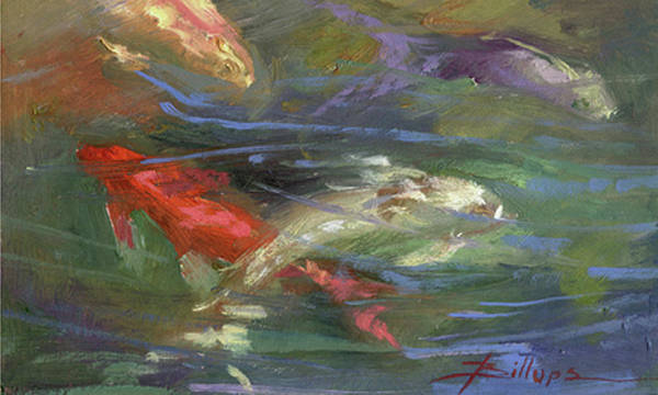 Plein Air Art Print featuring the painting Below The Surface by Betty Jean Billups