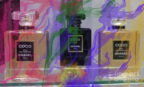 Chanel Coco Art Print featuring the mixed media Chanel Coco Abstract by To-Tam Gerwe